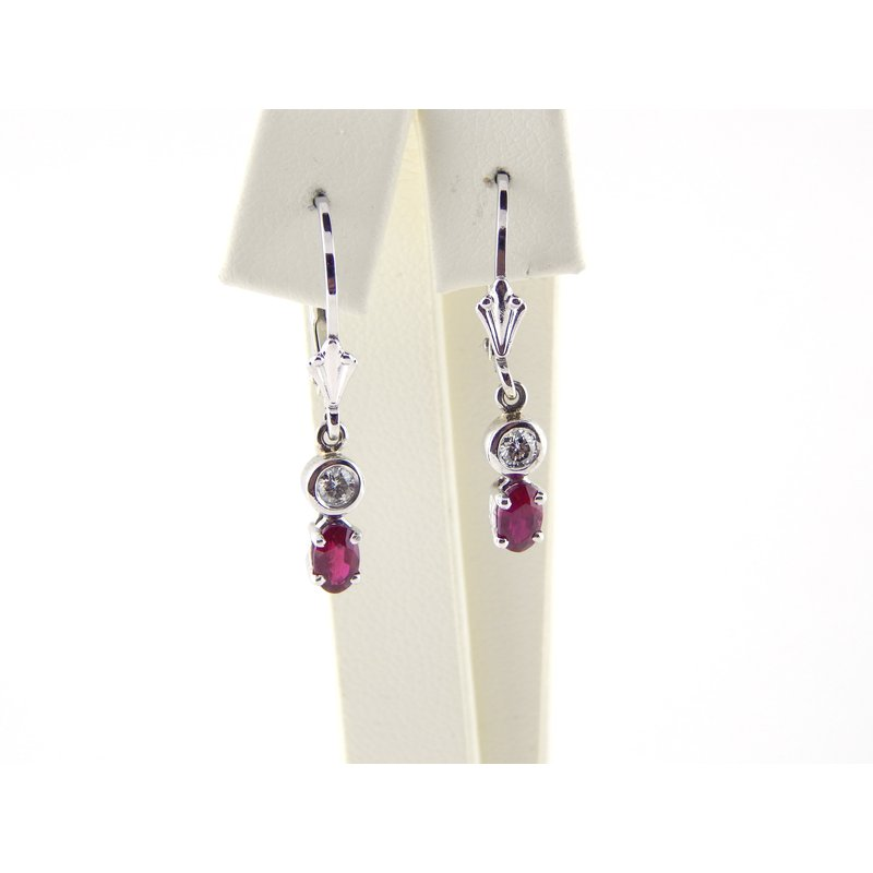 WS Creations Ruby Earrings