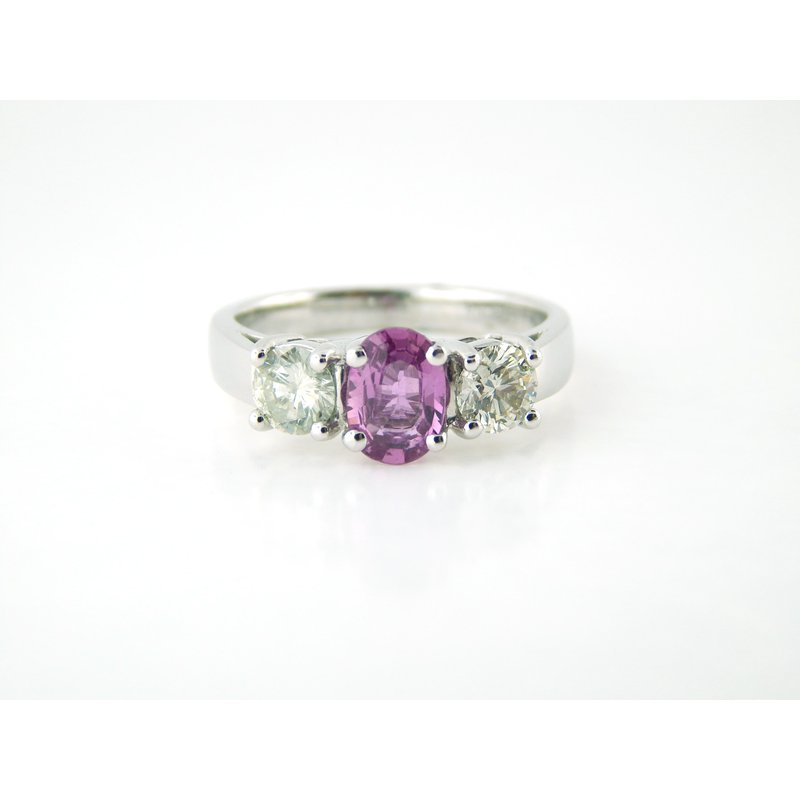 WS Creations Pink Sapphire Ring