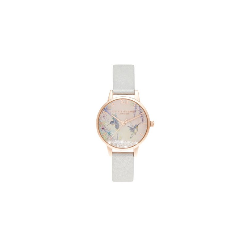 Olivia Burton Wishing Wings Midi Shimmer Pearl & Rose Gold Watch