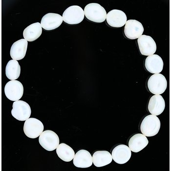 "Freshwater Pearl Stretch Bracelet 7.5"""