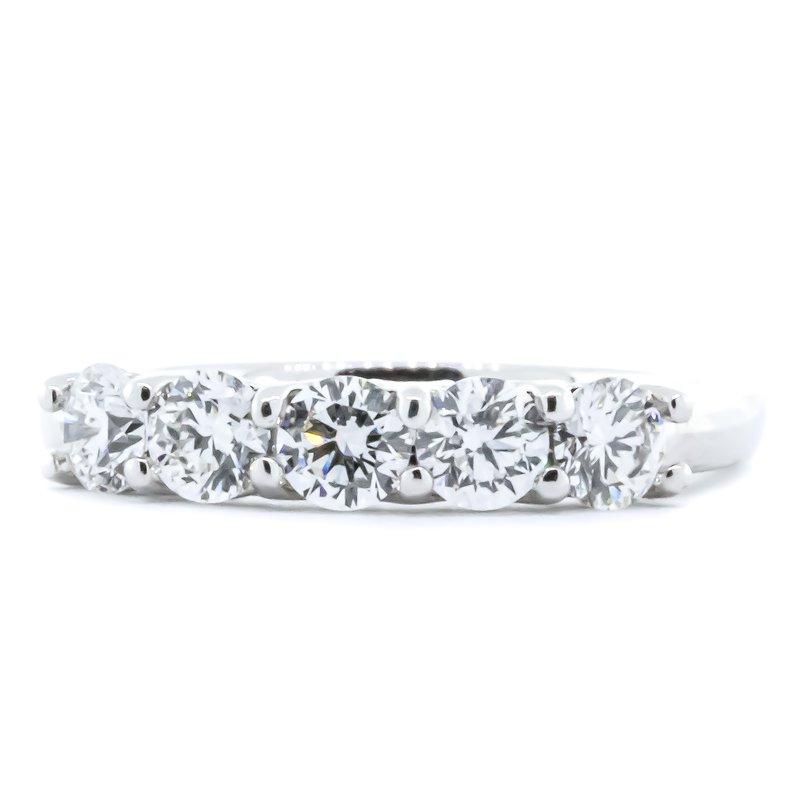 Iroff and Son Jewelers  14K White Gold 5 Stone Diamond Anniversary Band SZ 6.25