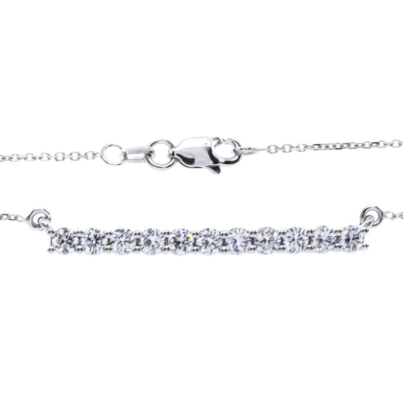 Iroff and Son Jewelers  14K White Gold 1.00CTW Diamond Bar Necklace