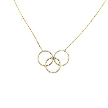 3 Interlocking Ring Necklace