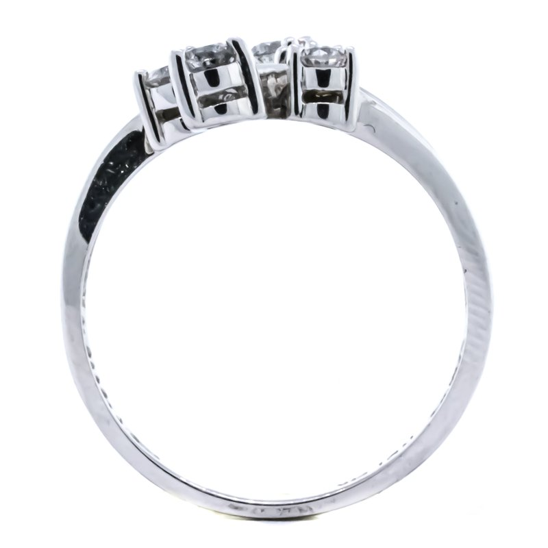 Iroff and Son Jewelers  14K White Gold Bypass Three Row Diamond Fashion Ring SZ 7