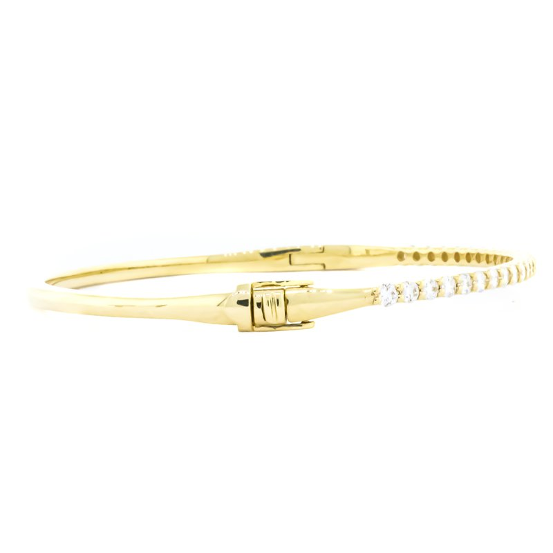 Iroff and Son Jewelers  14K Gold 1.00CTW Diamond Prong Bangle Bracelet