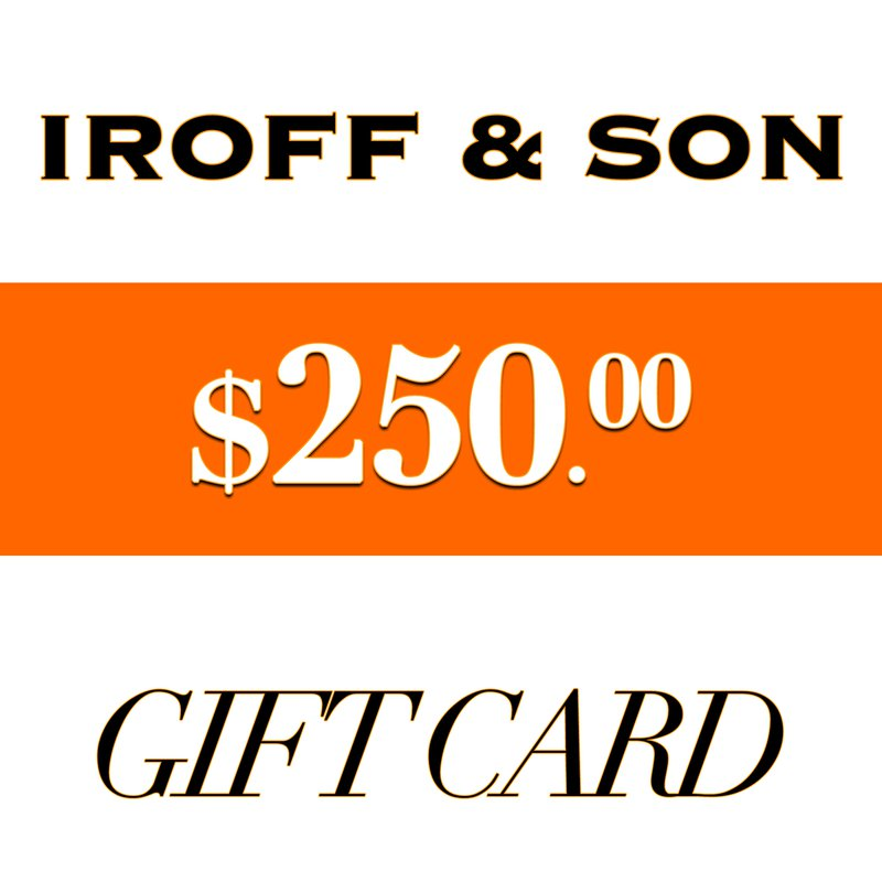 Iroff and Son Jewelers  $250 Gift Card
