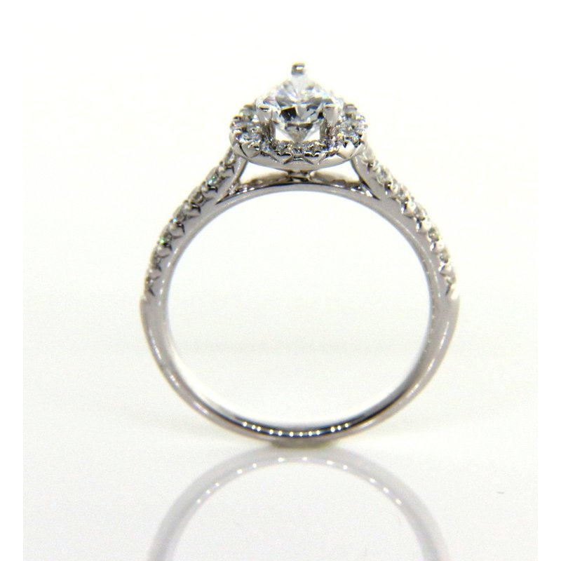 Iroff and Son Jewelers  Pear Shape Halo Engagement Ring 1.24ct