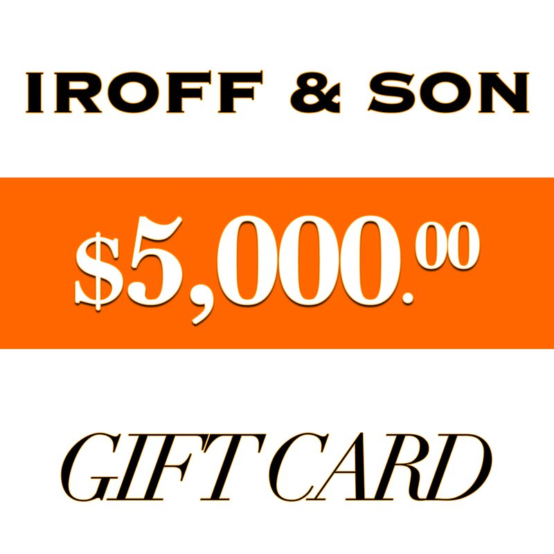 Iroff and Son Jewelers  $5000 Gift Card