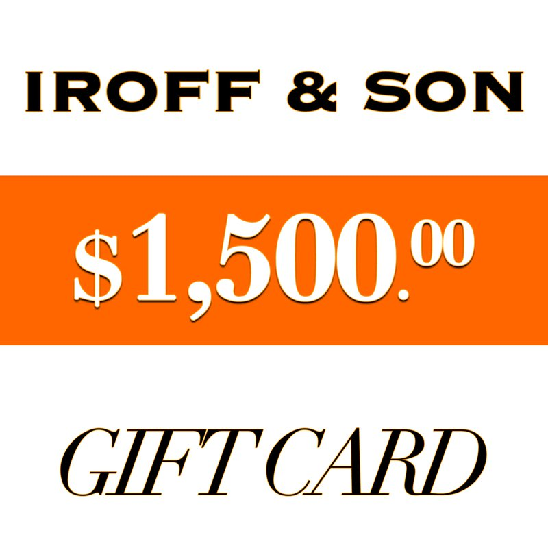 Iroff and Son Jewelers  $1500 Gift Card