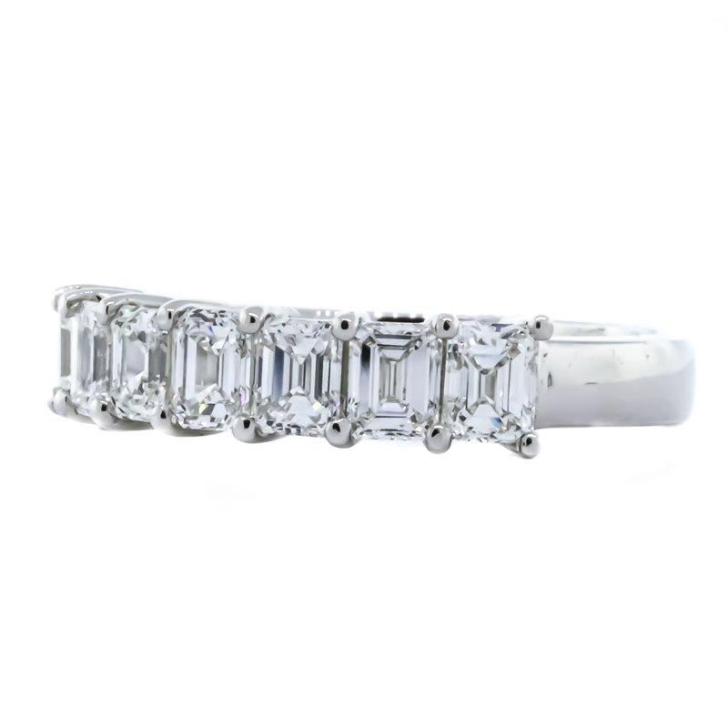 Iroff and Son Jewelers  Platinum 7 Emerald Diamond Band