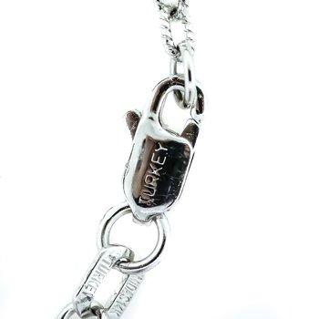 "14K White Gold 18"" Chain with Round Diamond Cushion Halo Pendant"