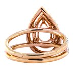 Iroff and Son Jewelers  18K Rose Gold Double Halo Split Shank Pear Engagement Ring