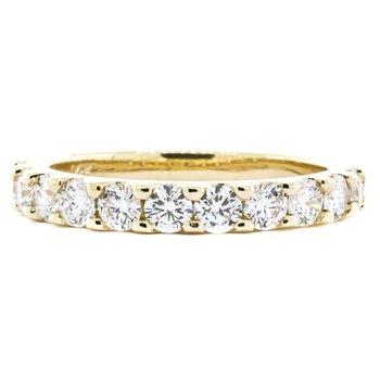 14K Gold 1.00CTW 11 Stone Diamond Ring