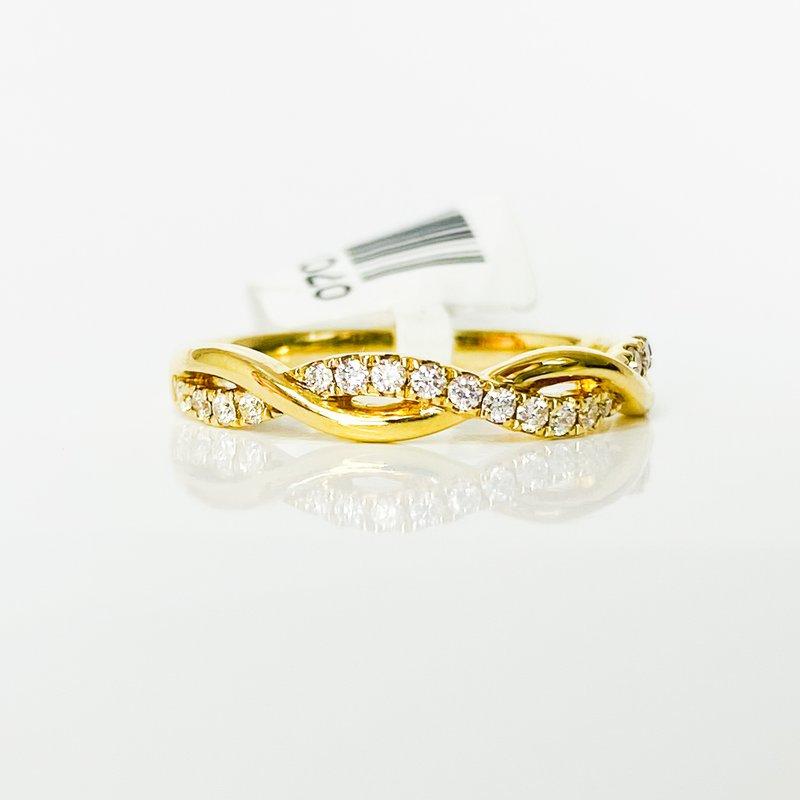 Iroff and Son Jewelers  14K Gold Twist Polish Diamond Band