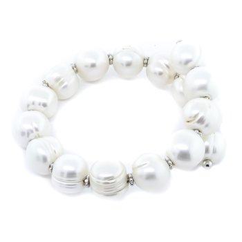 925 Sterling Silver Freshwater Pearl Wrap Bracelet