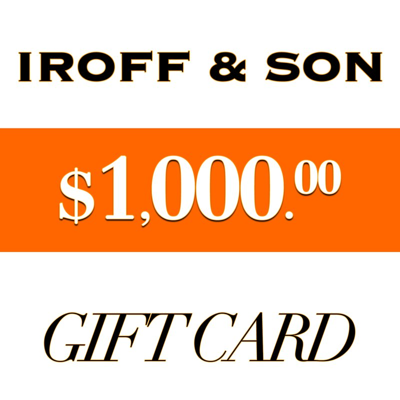 Iroff and Son Jewelers  $1000 Gift Card