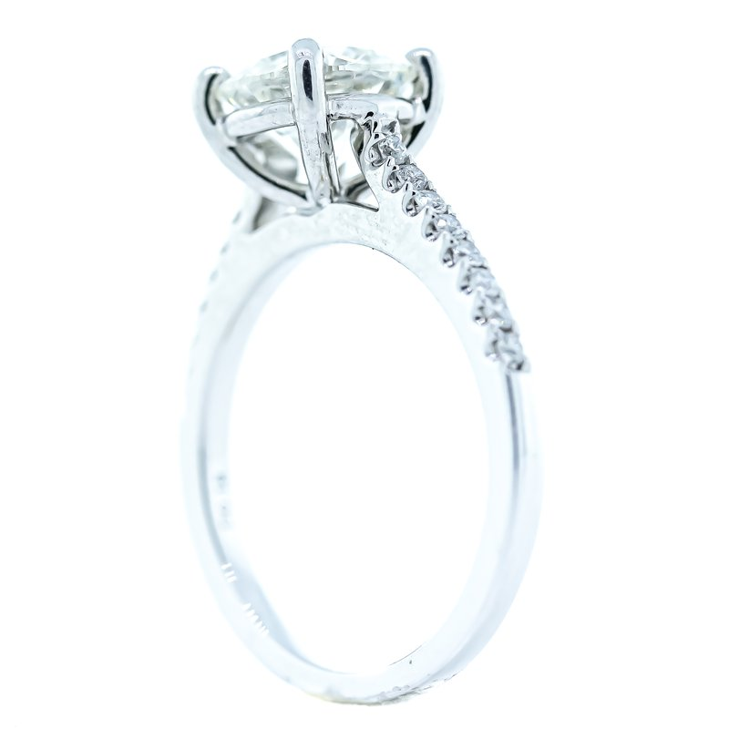 Iroff and Son Jewelers  18K White Gold GIA 2.18CTW Round Solitaire Engagement Ring SZ 6.5