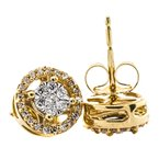 Iroff and Son Jewelers  14K Gold Diamond Halo Stud Earrings