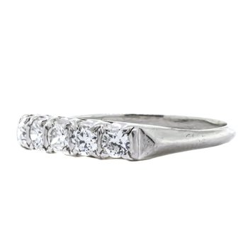 Platinum 5 Round Diamond Anniversary Band