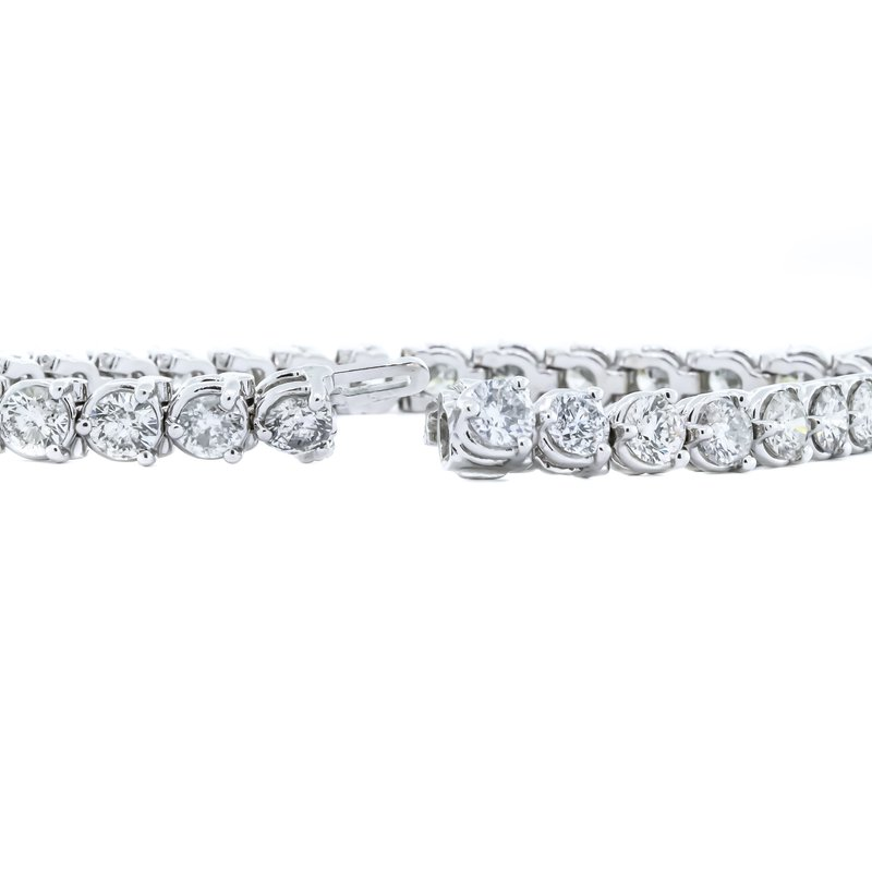 "Iroff and Son Jewelers  14K White Gold 7"" Tennis Diamond 12.00CTW Bracelet"