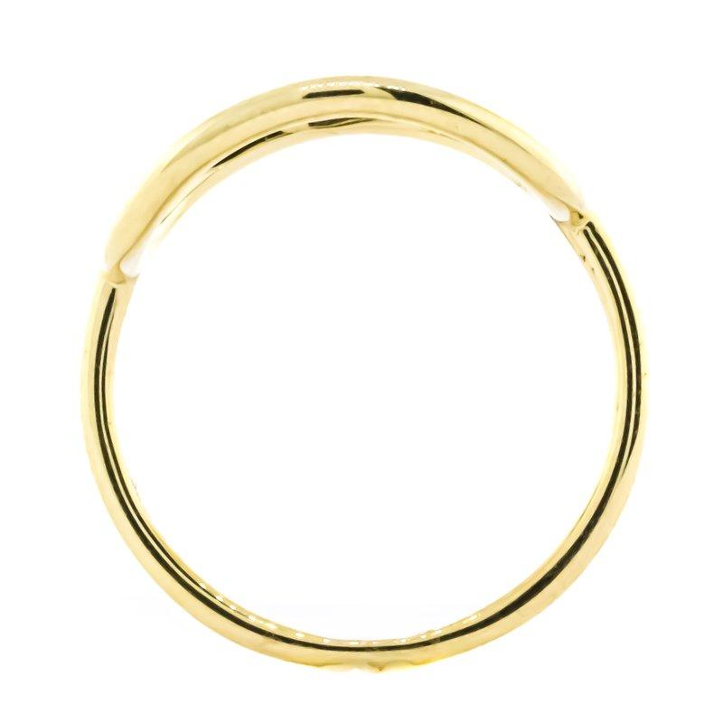 Iroff and Son Jewelers  14K Gold Organic Open Circle Fashion Ring SZ 7