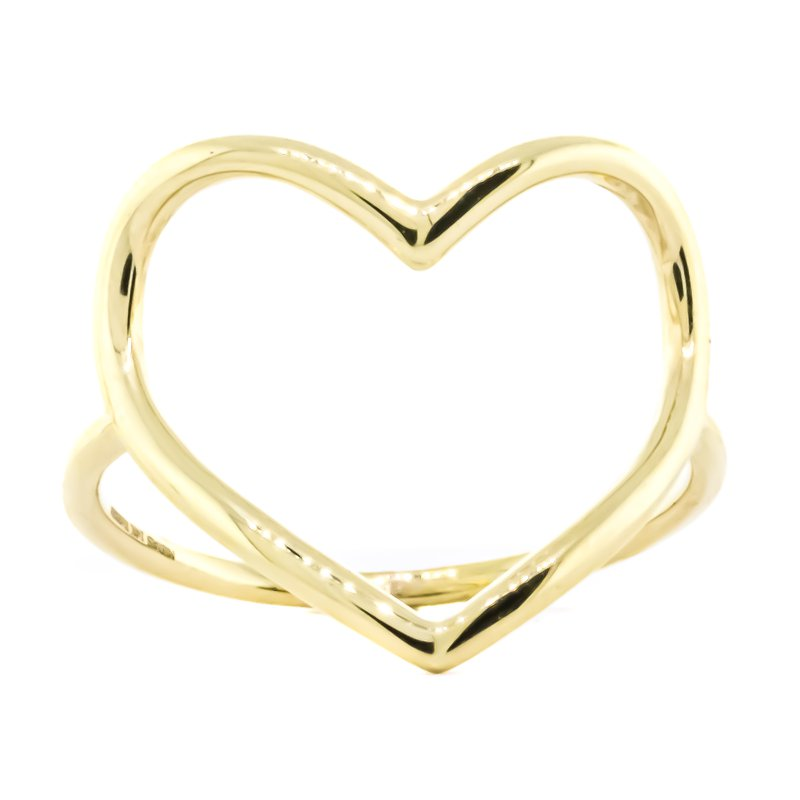 Iroff and Son Jewelers  14K Gold Organic Open Heart Fashion Ring SZ 7