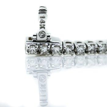 "14K White Gold 2.00CTW 4 Prong Set Diamond Tennis Bracelet 7"""