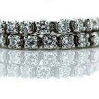 Iroff and Son Jewelers  14K White Gold 2.00CTW 4 Prong Set Diamond Tennis Bracelet 7""