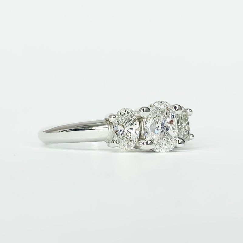 Iroff and Son Jewelers  3 Stone Oval Engagement Ring
