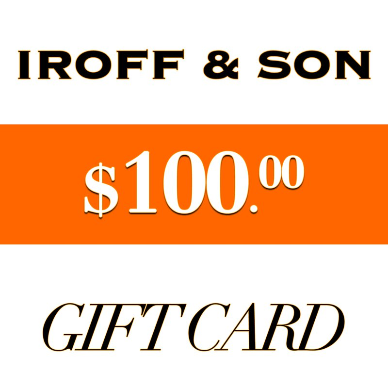 Iroff and Son Jewelers  $100 Gift Card