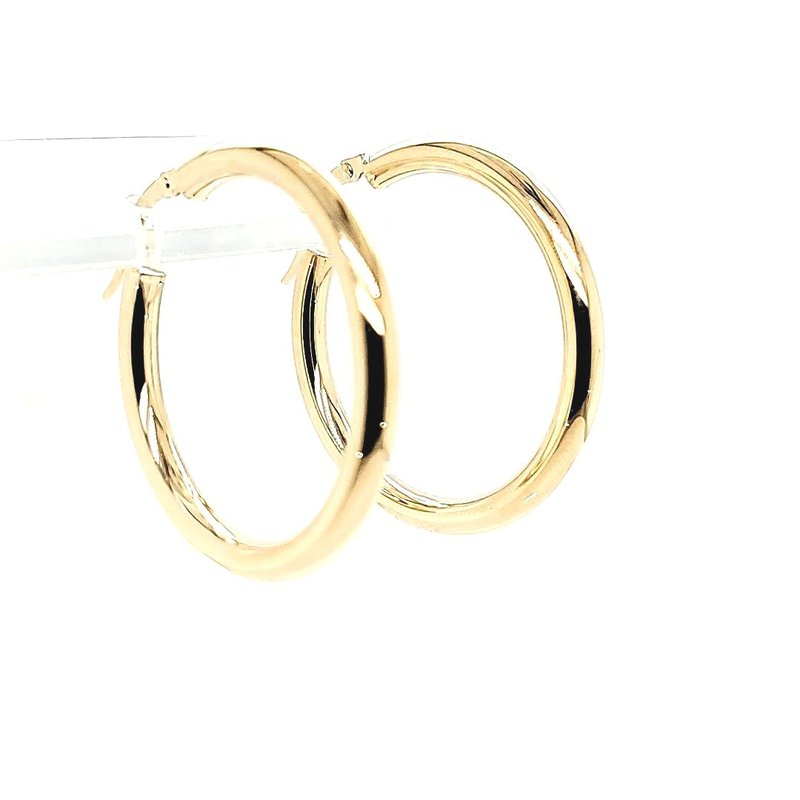 Iroff and Son Jewelers  Yellow Gold Hoops