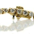 "Iroff and Son Jewelers  14K Yellow Gold 3.00CTW Diamond Tennis Bracelet 7"""