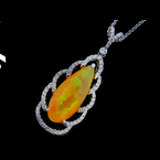 Iroff and Son Jewelers  Ethiopian Opal and Diamond Necklace