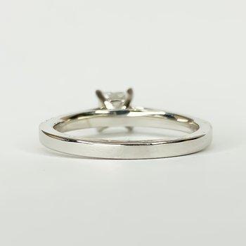 14K White Gold Solitaire Princess GIA Diamond Engagement Ring Size 6.25