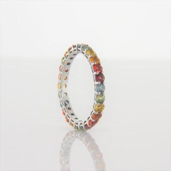 Rainbow Multi Sapphire Eternity Ring