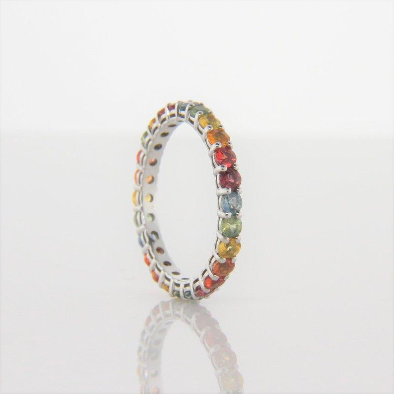 Iroff and Son Jewelers  Rainbow Multi Sapphire Eternity Ring