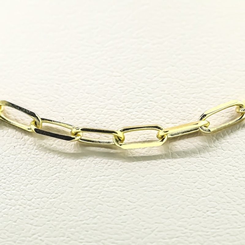"""Iroff and Son Jewelers  14K Yellow Gold 3.1mm Diameter Paper Clip Link Chain 18"""""""