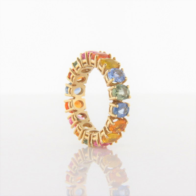 Iroff and Son Jewelers  Rainbow Sapphire Eternity Ring