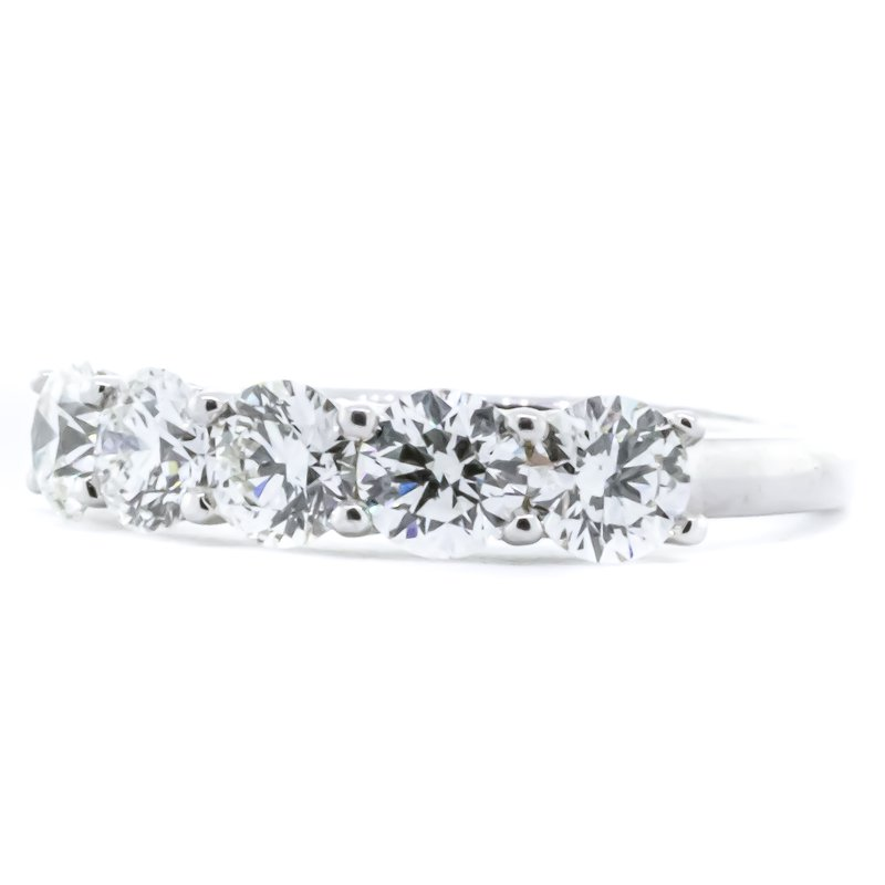 Iroff and Son Jewelers  14K White Gold Five Stone Diamond Anniversary Band 1.50CTW SZ 6.25