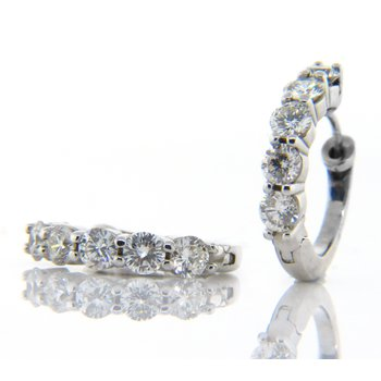 5 Stone Huggie earring