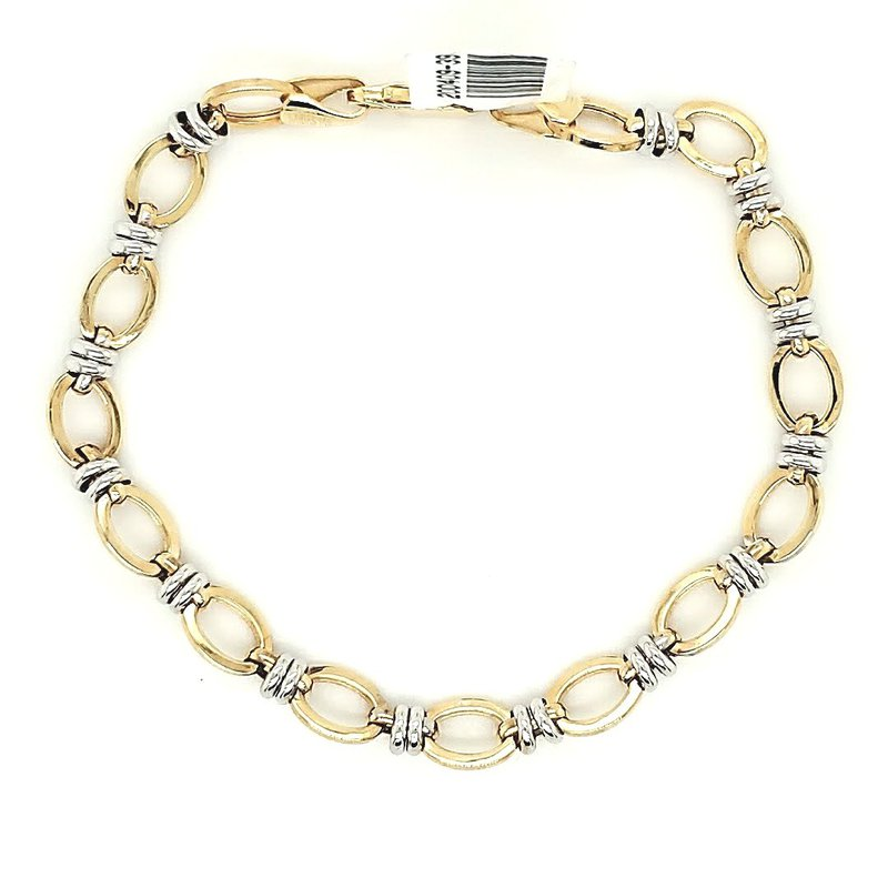 Iroff and Son Jewelers  Two Tone Link Bracelet