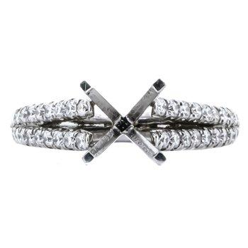 Platinum 2 Row Diamond Semi Mounting