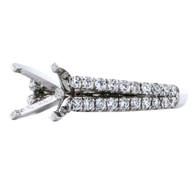 Iroff and Son Jewelers  Platinum 2 Row Diamond Semi Mounting