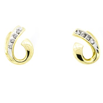 10K Gold Fashion Diamond Stud Earrings