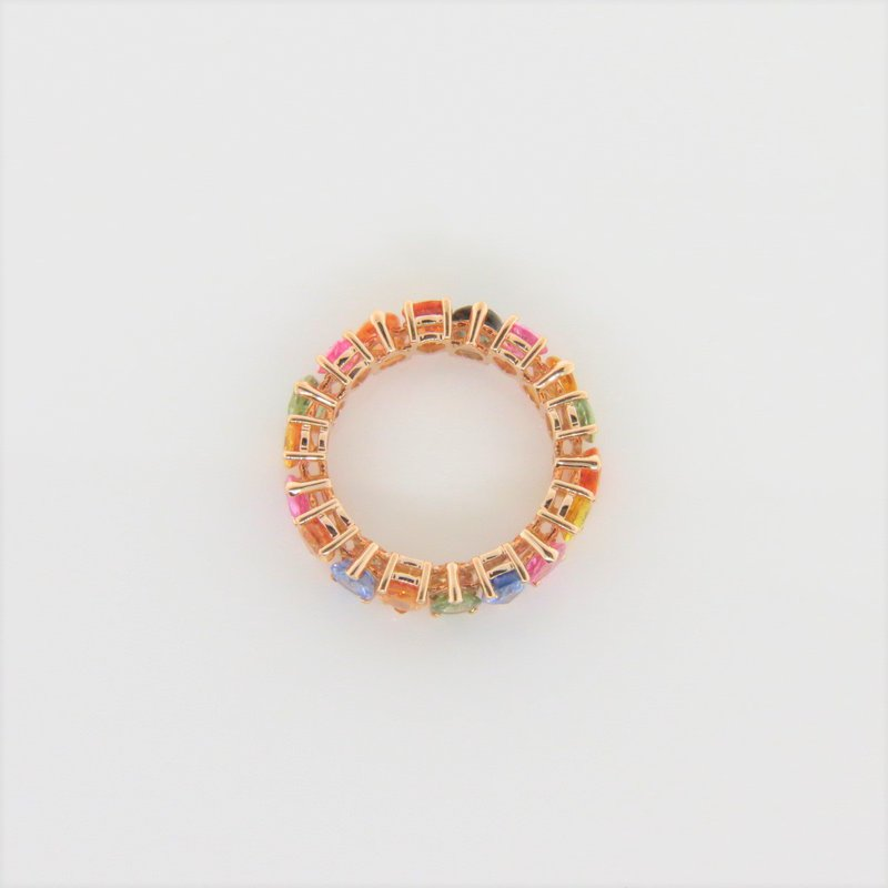 Iroff and Son Jewelers  Pear Rainbow Sapphire Eternity Ring