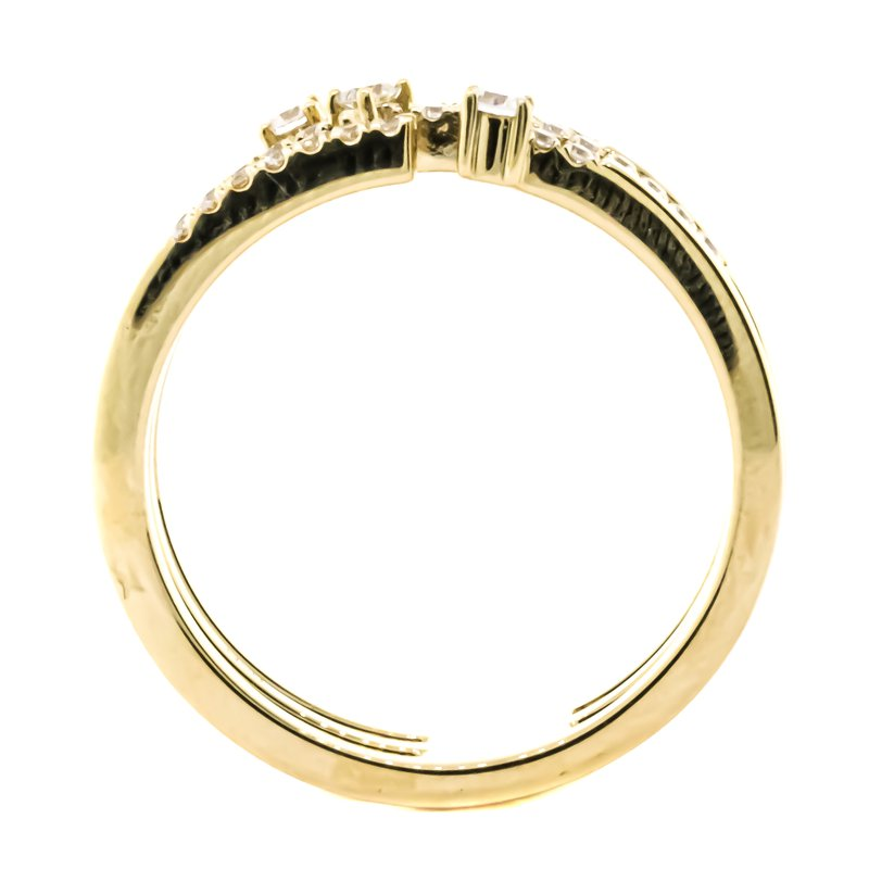 Iroff and Son Jewelers  14K Gold 3 Row Open Diamond Fashion Ring