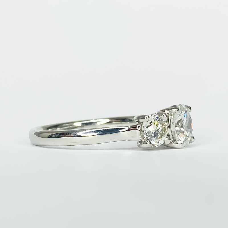 Iroff and Son Jewelers  14K White Gold 3 Stone Diamond Engagement Ring
