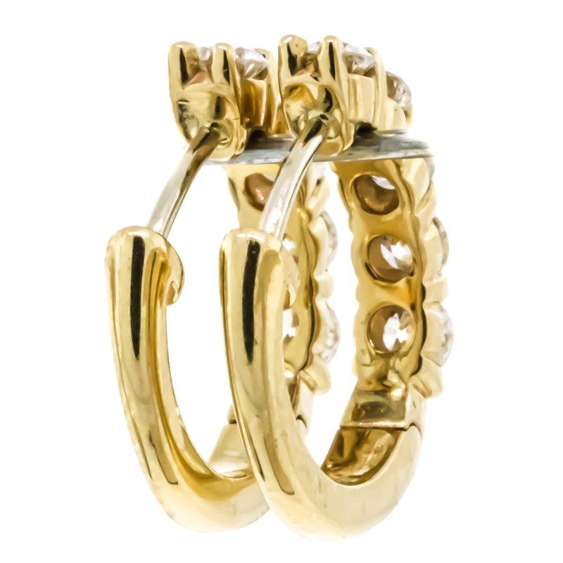Iroff and Son Jewelers  14K Gold 1.03CTW Huggie Diamond Earrings