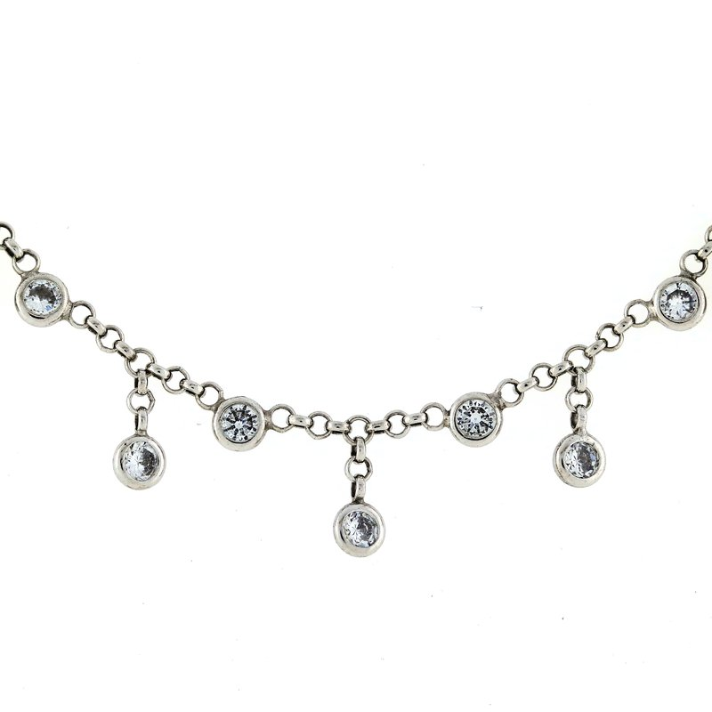 Iroff and Son Jewelers  Sterling Silver Rain Drop Necklace