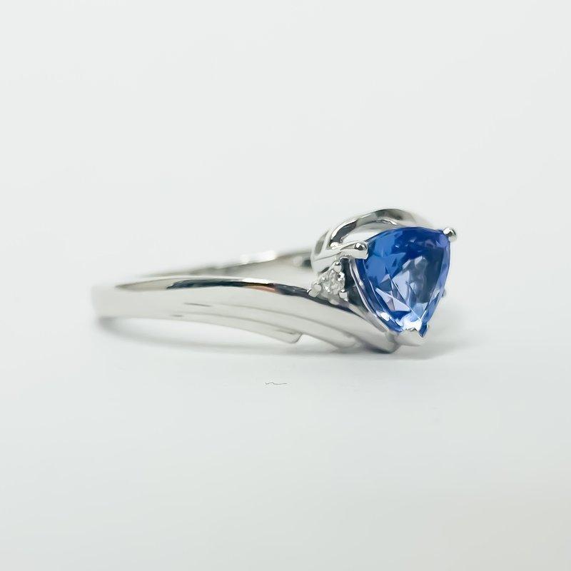 Iroff and Son Jewelers  10K White Gold Trillion Tanzanite Diamond Accent Ring